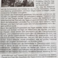 Day of tolerance (aus: Amtsblatt Jahrgang 20 vom 06. April 2018)